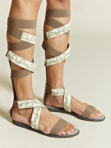 Damir Doma Women's Knee High Embroidered Sandals | LN-CC