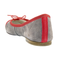 Repetto BB Suede Captoe in Grey & Watermelon - Zoe