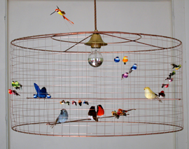 LA VOLIERE BIRD LAMPS BY MATHIEU CHALLIERES | LIVING IN A BORING NATION