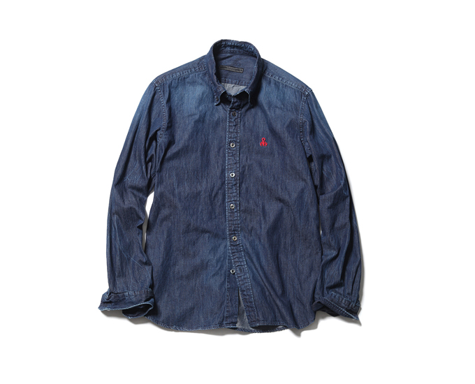 SOPHNET. | PRODUCT | SCORPION EMBROIDERY DENIM B.D SHIRT