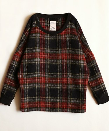 TARTAN CHECK PULL-OVER