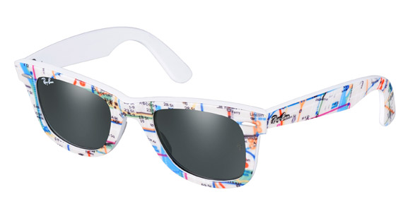 1e354895ff Ray Ban   Wayfarer Rare Prints Collection   NYC subway map