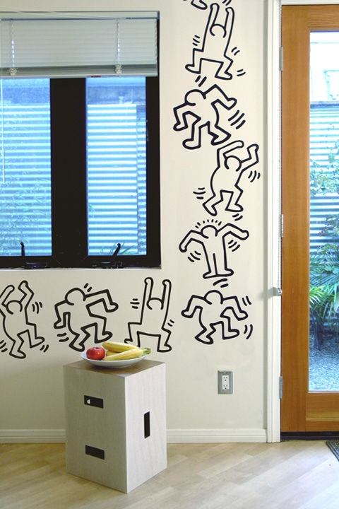 Keith Haring Dancers wall decals by Blik