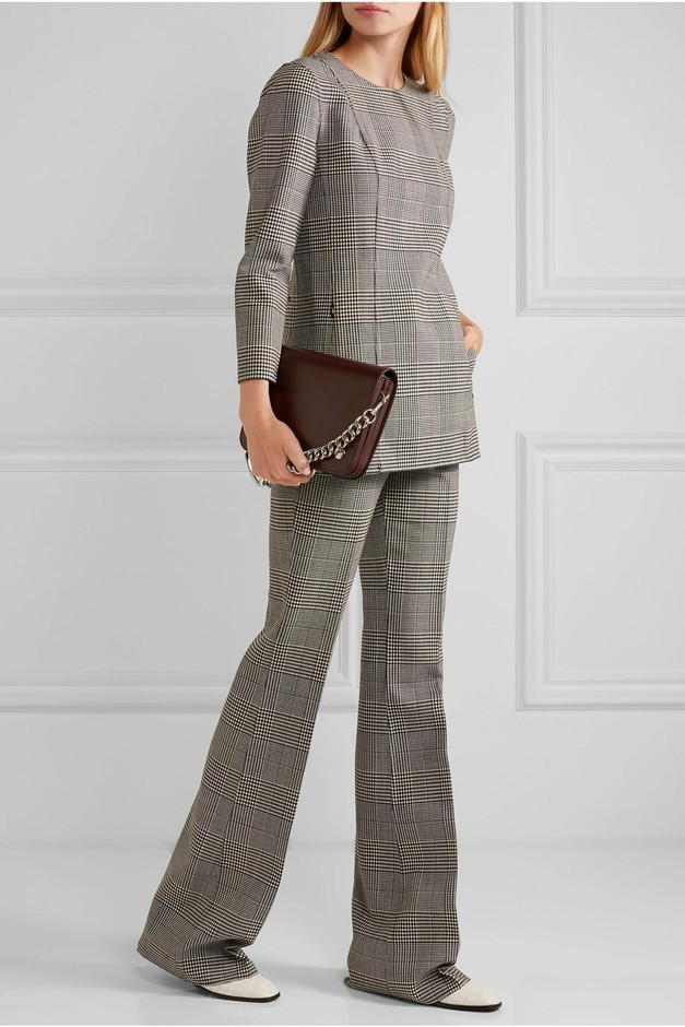 Theory | Demitria Prince of Wales checked stretch-wool flared pants | NET-A-PORTER.COM