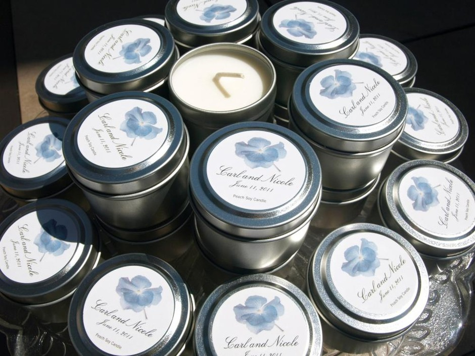 Custom Soy Travel Candle Favors For Weddings And Events | Luulla
