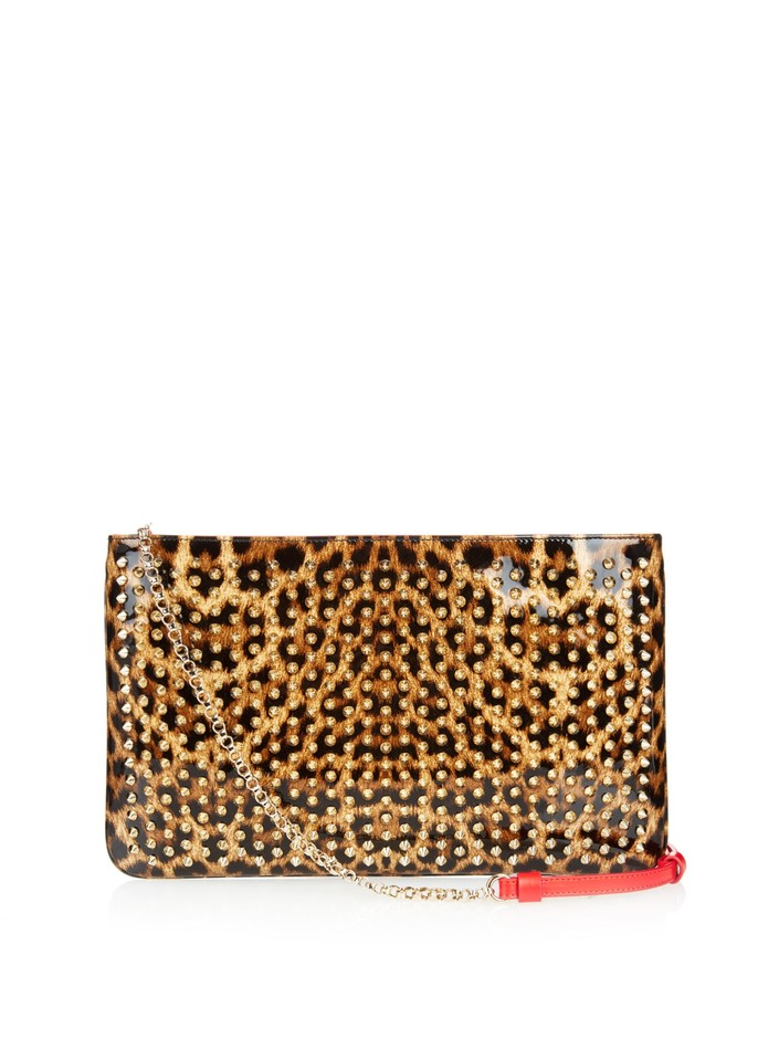 Loubiposh Spikes patent-leather pouch | Christian Louboutin | MATCHESFASHION.COM