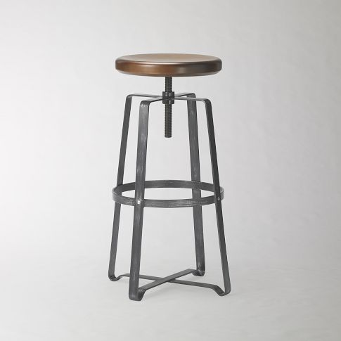 Adjustable Industrial Stool | west elm