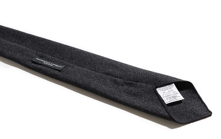 ENGINEERED GARMENTS/Neck Tie-Heather Worsted Wool Flannel-Charcoal