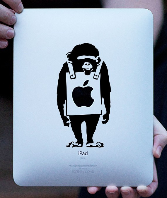 Monkey vinyl decal FREE SHIPPING by luckylabs on Etsy