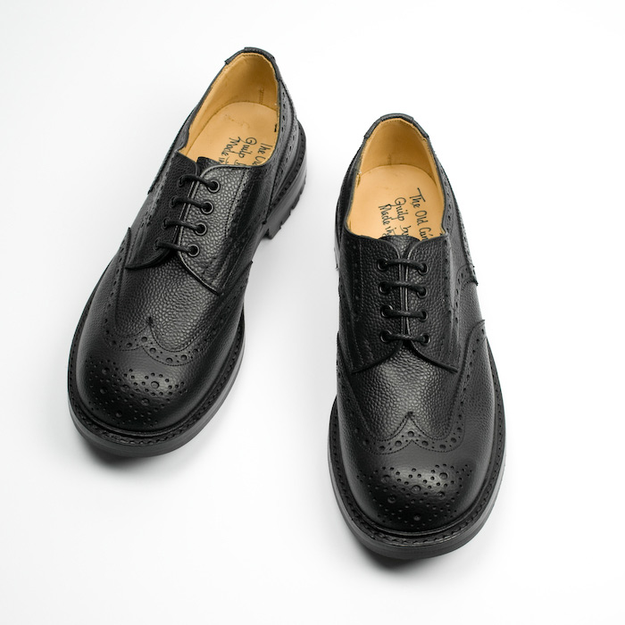 Quilp Shoes / M 7457 Derby Brogue Shoes / Scotch Grain Black - Store - nonsect radical