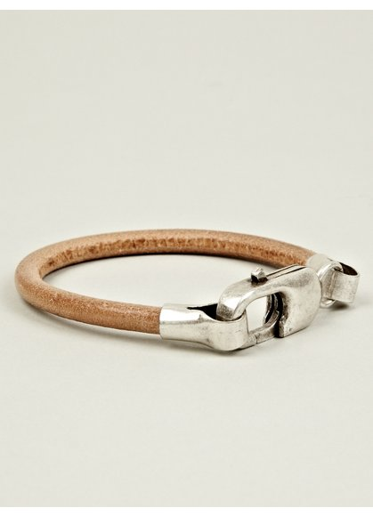 11 Men's Brass and Leather Bracelet - Oki-ni