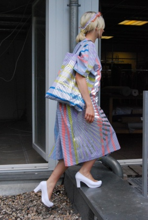 STARSTYLING - STARSTYLING Kaftan Painted Strippes ワンピース -