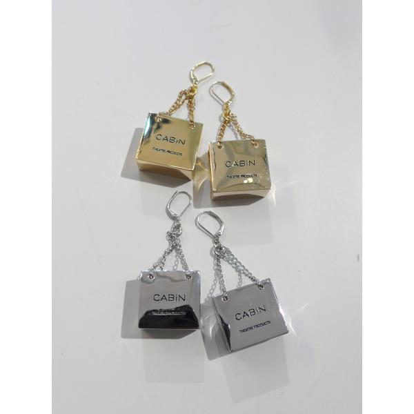 THEATREPRODUCTS  TA131104  メタルBAGピアス  COL.GOLD SILVER ¥12.600 - nep Onlinestore