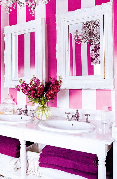 Pink Bathroom | Laundry Room/Bathrooms