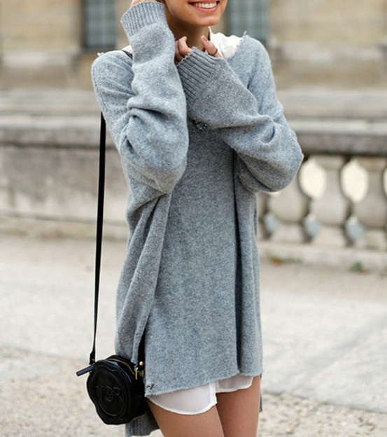Oversized cashmere pullover 85602-2312 | Repeat Cashmere