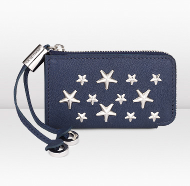 Jimmy Choo   Roma   Navy Leather Coin Purse with Stars