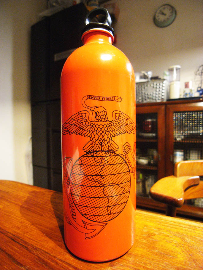 US marine corp FUEL bottle by MSR : ***Money can't buy ...
