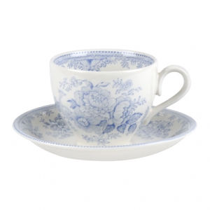 Teacup & Saucer. Buy Blue and White China from the Secure Burleigh Online Shop