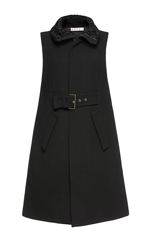 Double Face Yarn Dyed Waistcoat by Marni for Preorder on Moda Operandi