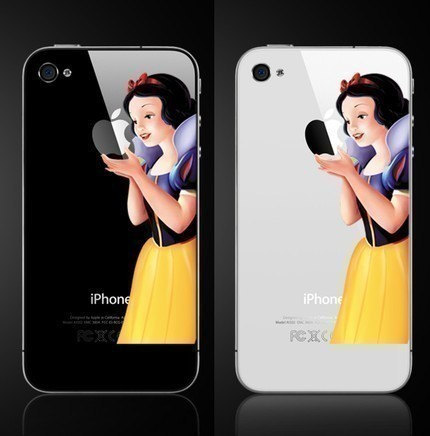 iPhone4 Snow White Decal iPhone4 Type Decal Mac by imagicdecal