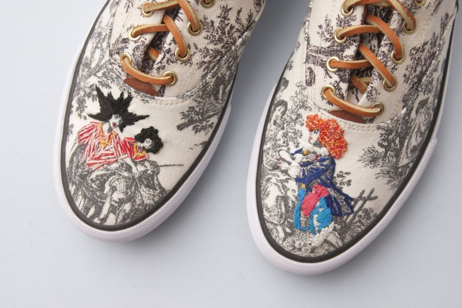 Toile de Jouy Inspired Sneakers |
