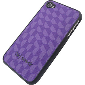 Speck Fitted Hard Shell Case for iPhone 4 & 4S, SpexyHexy Purple IPH4-FTD-A02A025-A