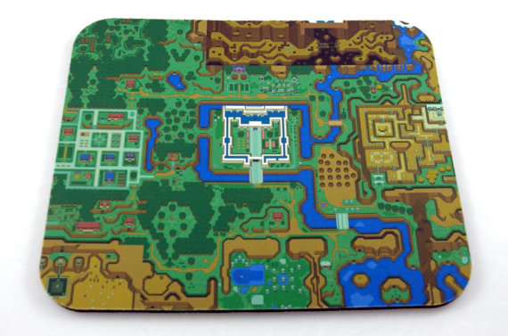 SNES Mouse Pad The Legend of Zelda A Link to the by 8BitMemory