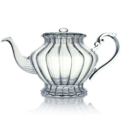 ≪ Happy Lover ≫ Teapot hand blown glass - 0,7 l