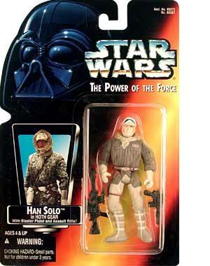 "Amazon.com: Star Wars Power of the Force Red Card 3 3/4"" Han Solo in Hoth Gear Action Figure: Toys & Games"