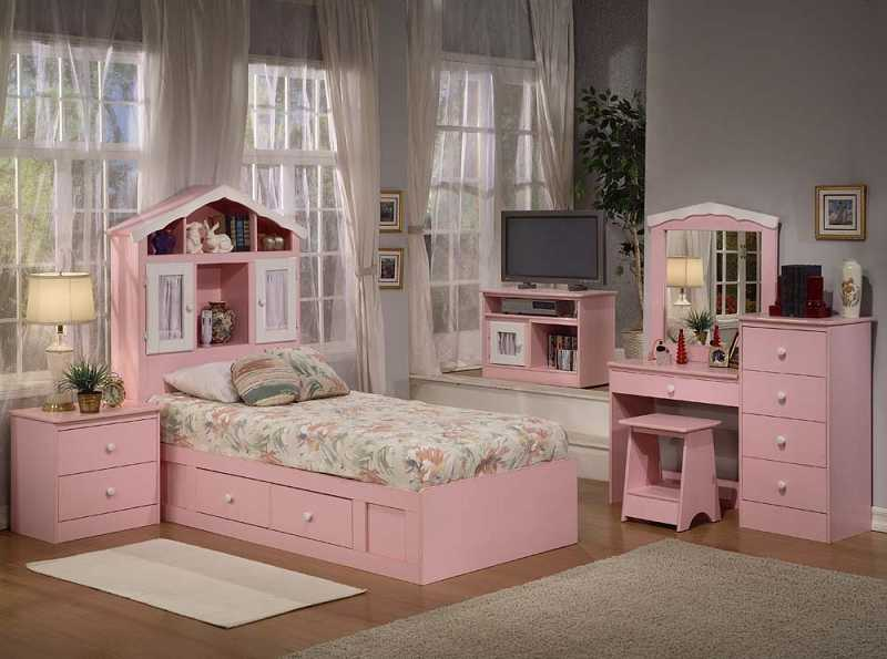 2-P TWIN CHEST BED WITH BOOKCASE HDBRD PRINCESS