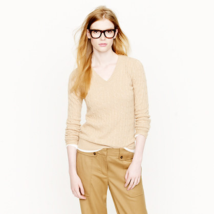 Cambridge cable V-neck sweater - sweaters - Women's new arrivals - J.Crew