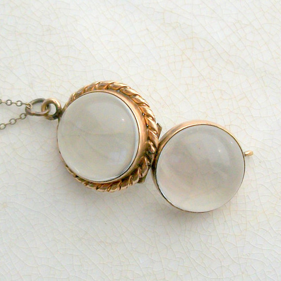 Antique Edwardian Crystal Locket Pool of Light Rope by TheDeeps