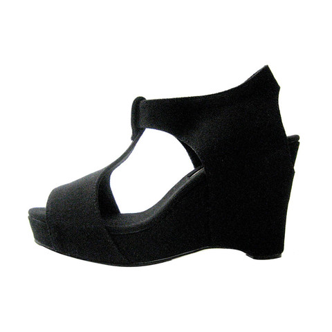 Slow and Steady Wins the Race — Wedge Sandal in Black