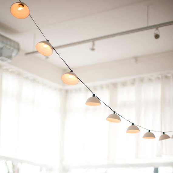 Pleated String Lights MADE TO ORDER by PigeonToeCeramics on Etsy