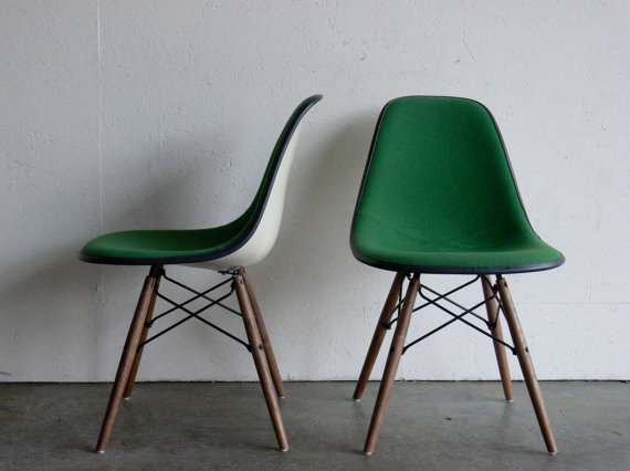 Eames for Herman Miller Dowel Base Side ChairsDSW Set of by CoMod
