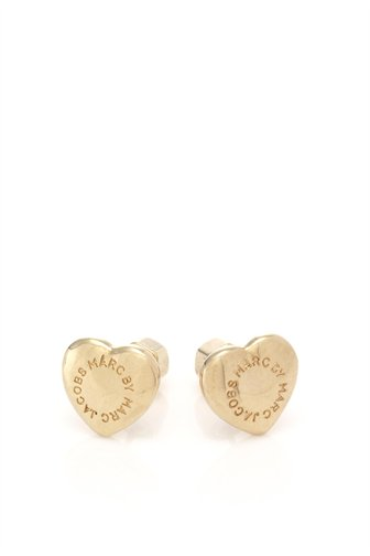 Domed Logo Heart Studs - M3PE545 - Marc By Marc Jacobs - Womens - Jewelry and Hair Accessories - Marc Jacobs