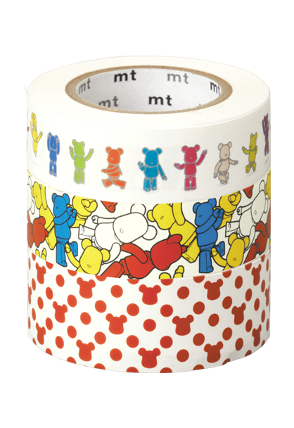 MEDICOM TOY - BE@RBRICK masking tape ACTION/CROWD/POLCADOT 3本セット