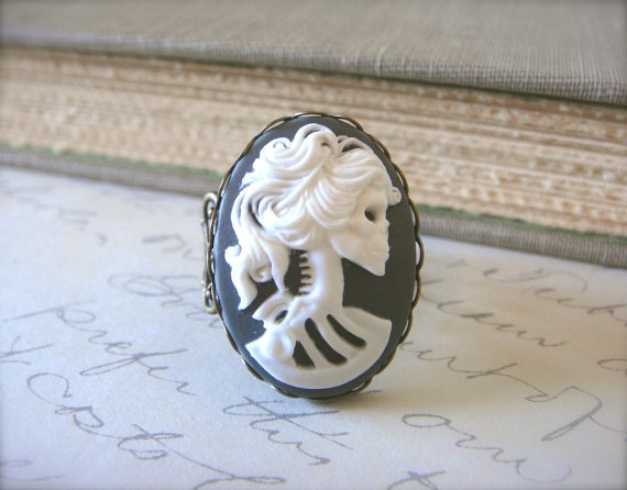 LOVELY BONES skeleton ring halloween day of by PASSIONandPAISLEY