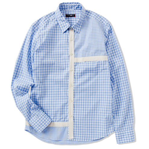 GINGHAM MONDRIAN L/S SHIRT | COLLECTION | CASH CA | カシュカ