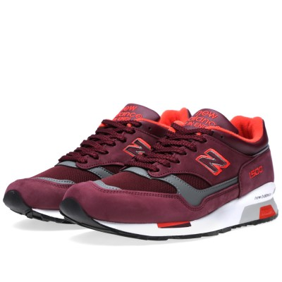 New Balance M1500BRG - Made In The UK (Maroon & Neon Red)