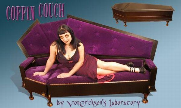 Coffin Couch for Gothic Heroines | Elite Choice