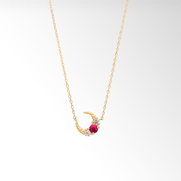 STAR JEWELRY |RUBY MOON NECKLACE: ネックレス