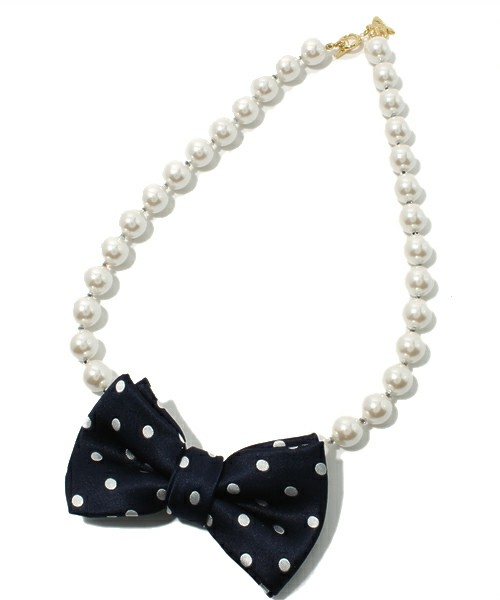 Accessorie / パールドットネックレス NAVY(ネックレス) - ZOZOTOWN