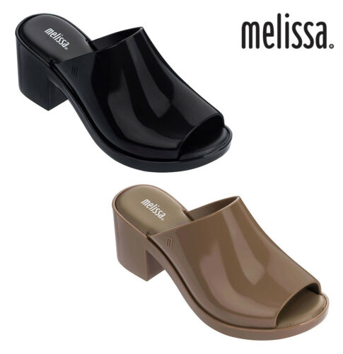 NWT MELISSA Womens MULE III Wedge Heels Cute Enamel Shiny Beige Black 32421 NEW | eBay