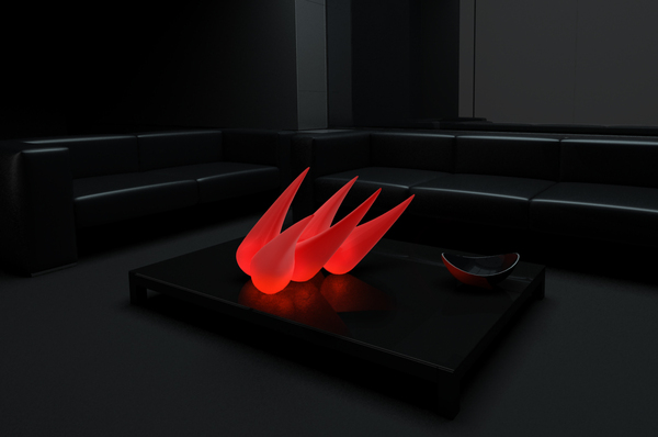 ANEMONA (visually unsteady lamp) on the Behance Network