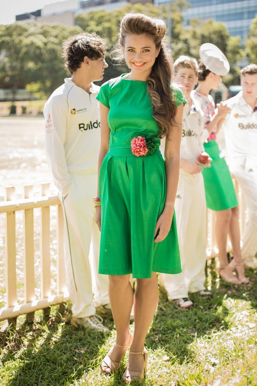 Emerald On the Green Dress from the Sydney City Collection by Shabby Apple