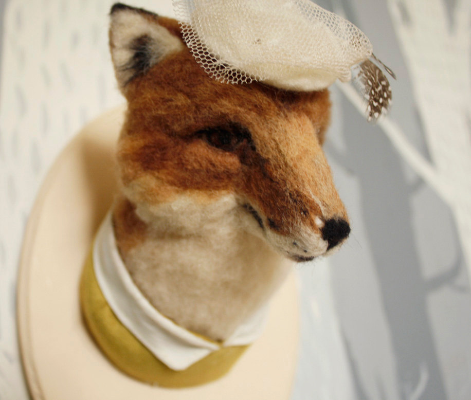 Needle Felted Fox Taxidermy by Stacie013 on Etsy