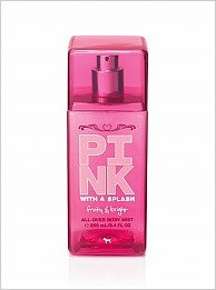 "Amazon.com: Victoria's Secret Pink With A Splash ""Fruity & Bright"" All-Over Body Mist 8.4oz: Beauty"