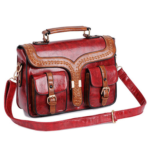 [grxjy520157]British Style Retro Candy Color Clutch Bag Shoulder Bag / brashycouture