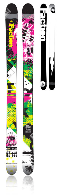 The Prodigy fat twin ski - FACTION SKIS | 2011/12 | SKIS FOR ADDICTS, BY ADDICTS